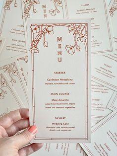 modern earth tone wedding menus from Homestead Ink Custom Wedding Invitations, Wedding Stationary, Wedding Branding, Menu Design, Print Design, Branding Design, Invitation Paper, Invitation Design, Invites