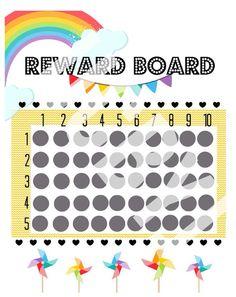 Rainbow BRIGHR Reward Chart on Etsy, $6.00