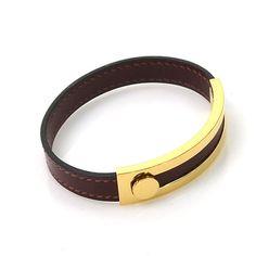 Hermes Leather Metal Bracelet
