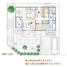 室内干しができて、晴れの日は外干しもしやすい間取り。 | folk Floor Plans, How To Plan, Architecture, Room, House, Landscaping, Arquitetura, Interiors, Bedroom