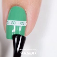 Double stamping manicure full tutorial and more videos on darby Diy Nails, Cute Nails, Pretty Nails, Manicure, Nail Art Videos, Natural Hair Mask, Nagellack Trends, Nail Polish, Nail Tutorials