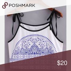 top White spaghetti strap crop top Tops Crop Tops