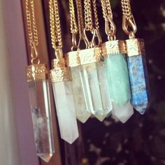 quartz necklaces
