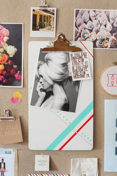 inspired by this project http://ampersanddesignstudio.com/wp-content/uploads/2012/09/LauraParke_PaintedClipboard_006.jpg