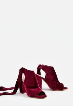 65b04b3fb Abriana Bootie. Just Fab ShoesTransitional StyleLady In RedTie BacksOpen ToeSize  ...