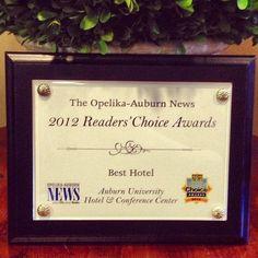 The Hotel at Auburn University won the 2012 OA News Readers Choice Award for Best Hotel!