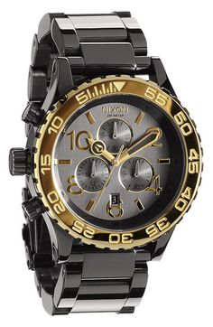 Nixon 'The 42-20 Chrono' Watch available at #Nordstrom $299.98 on sale!! I LOVE THIS!!!! item #501703 in gunmetal