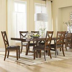 Omaha 5-Piece Dining Set in Burnished Saddle Brown   Nebraska Furniture Mart