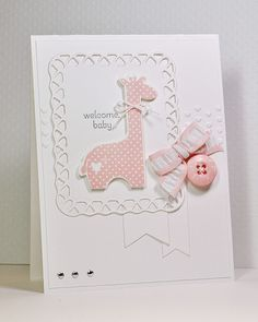Sweet pink giraffe card