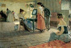 Telemaco Signorini La toilette del mattino è un olio su tela (120x176 cm, collezione privata) eseguito nel 1898