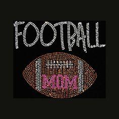 Football Mom 7.5x9 Football Rhinestone Bling by BlingByBates