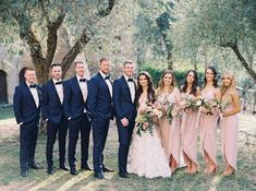 Breathtaking Mauve and Blush Floral Italian Countryside Wedding - MODwedding Pale Pink Bridesmaids, Pink Bridesmaid Gowns, French Wedding, Mod Wedding, Countryside Wedding, Ceremony Arch, Wedding Parties, On Your Wedding Day, Mauve