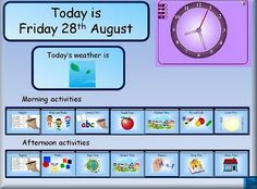 Visual timetable for Interactive Whiteboard