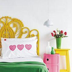Amarelo, rosa e verde