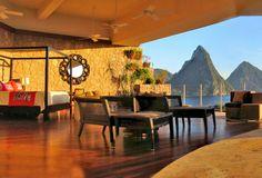 Jade Mountain hotel - St Lucia