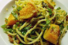 Spaghetti mit Kürbis!