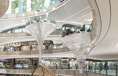 Shopping Mall Architecture, Shopping Mall Interior, Shopping Malls, Commercial Architecture, Modern Architecture, Interior Rendering, Interior Design, Interior Balcony, Mall Design