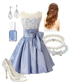 A fashion look from July 2016 featuring peeptoe shoes, sterling silver jewellery and holiday cocktail dresses. Browse and shop related looks. Really Cute Outfits, Pretty Outfits, Pretty Dresses, Beautiful Outfits, Classy Outfits, Stylish Outfits, Girls Fashion Clothes, Clothes For Women, Marvel Inspired Outfits