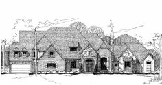 European Style House Plans - 8011 Square Foot Home , 2 Story, 6 Bedroom and 5 Bath, 4 Garage Stalls by Monster House Plans - Plan 62-490
