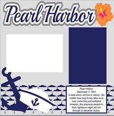 Scrapbook Page Kit Pearl Harbor Premade Scrapbook Layout