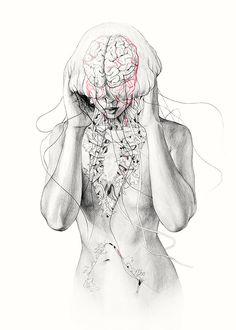 "Artist Elisa Ancori's surreal series of aquatic metamorphoses. More images from ""Five Mermaids"" below. Elisa Ancori's Website"
