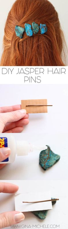Jasper Hair Pins DIY