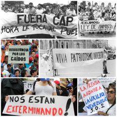 Pancartas de distintas décadas (ARCHIVO EL NACIONAL)