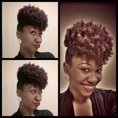 Loove her pineapple puff////(via Afro Divas)