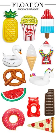 Summer Pool Floats | Heart of Chic