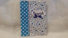 Kék virágoa receptes füzet, Konyhafelszerelés, Receptfüzet, Meska