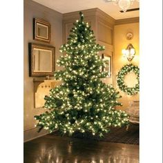 6.5' Pre-Lit Middleton Full Layered Artificial Christmas Tree - Clear Lights - Walmart.com