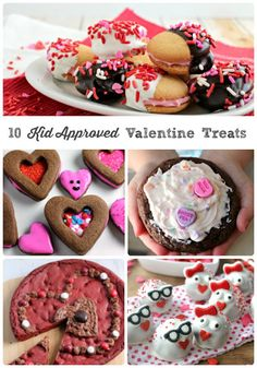 """From cute to easy to just plain sweet, you are sure to find the perfect dessert to say """"I love you"""" to your kiddos in this collection of 10 Kid Approved Valentine Treats."""