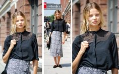 Name: Magdalena Frackowiak  Occupation: Model  What's your favorite word? I love all words.  What can't you live without during fashion week? My iPhone!  Who is your best friend in the modeling industry? Hanne S.