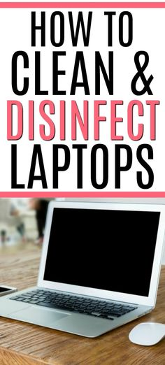 Inside: Tired of a dirty laptop? Check out these easy tips on how to clean and disinfect a laptop. You can easily clean the screen, keyboard, and more! Oven Cleaning Hacks, Deep Cleaning Checklist, Cleaning Recipes, House Cleaning Tips, Green Cleaning, Clean Laptop Screen, How To Clean Laptop, Arm And Hammer Super Washing Soda, Diy Laptop