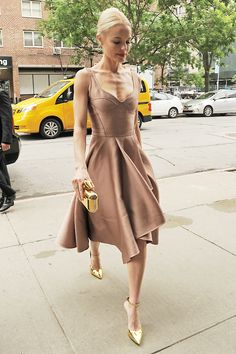 Kate Bosworth was the picture of elegance in a nude Jason Wu dress as she headed to an event in New York.