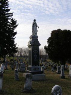 tall statue/stone  United Presbyterian Cemetery  Antrim, Ohio
