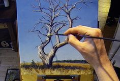 Dead Standing Tree - Acrylic Painting Lesson - $14.99 #onselz