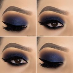 13 Great Blue Eyeshadow Looks That Make You Charming! - - 13 Great Blue Eyeshadow Looks That Make You Charming! – Blue eyeshadow ideas, blue makeup looks, blue eyeshadow looks, makeup ideas prom, Blue Eyeshadow Makeup, Prom Eye Makeup, Eyeliner, Blue Eyeshadow Looks, Blue Makeup Looks, Dramatic Eye Makeup, Matte Makeup, Eye Makeup Art, Glitter Eye Makeup