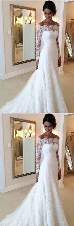 White Lace Wedding Dress, Lace Bridal Dress, by PrettyLady on Zibbet