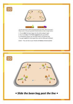 Co-operate & Compete: 6 fun pair skill-stations cards (printable) practice skill games pe school sport education teach lesson Physical Education Lessons, Science Education, Physical Activities, Activities For Kids, Motor Activities, Health Education, Pediatric Physical Therapy, Occupational Therapy, Pe Ideas