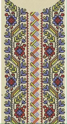 Polish Embroidery, Folk Embroidery, Hand Embroidery Stitches, Cross Stitch Embroidery, Embroidery Patterns, Cross Stitch Borders, Cross Stitch Flowers, Cross Stitch Designs, Cross Stitching