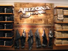 There's also the Arizona shop, which is sectioned out with hardwood floors and this prominent display.