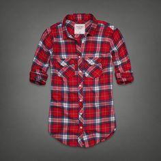 Womens MacKenzie Flannel Shirt | Womens SOFT & COZY | Abercrombie.com