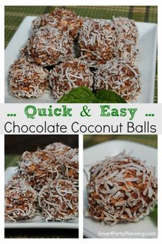 Delicious chocolate coconut balls no bake recipe that the whole family will love. They are easy to make and will curb those sweet tooth cravings without the guilt. This is a healthy recipe you will come back to over and over again. 21 Day Fix Desserts, No Sugar Desserts, Clean Eating Desserts, Gluten Free Desserts, Healthy Chocolate, How To Make Chocolate, Delicious Chocolate, Chocolate Recipes, Quick Dessert Recipes