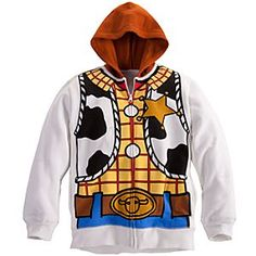 Disney Woody Hoodie for Boys | Disney StoreWoody Hoodie for Boys - Sherriff Woody's warm hoodie makes a simple costume too. Our Toy Story friend's famous cowboy duds are printed on both sides, so just zip-up the jacket and away we'll ride for masquerade fun as the sun sets in the West!