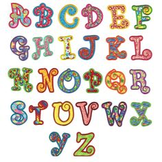 Chunky curlz curly applique machine embroidery monogram alphabet font.  From designsbyjuju.com  Sometimes it's $4 on sale!