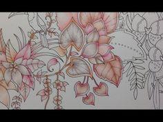 MAGICAL JUNGLE - prismacolor pencils - color along part 1 - YouTube