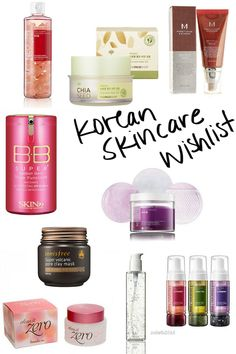 When it comes to beauty and skincare, Korean brands are my preferred choice. That's why I've created a wishlist of Korean skincare items I'd love to get!