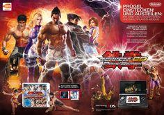 Double-Page Advert . Tekken 3D Prime Edition . Nintendo 3DS