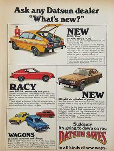 1977 Datsun Automobiles Vintage Ad - 200SX B210 F10 810